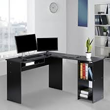 corner office table. LANGRIA Modern L-Shaped Computer Desk Corner PC Latop Study Table Workstation Home Office With