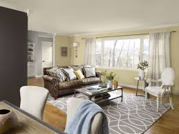 Yellow Living Room Chairs Living Room Brown Chairs Gray Recliners White Shelves Gray Sofa