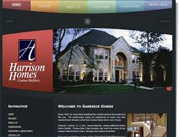 Construction Website Design For Harrison Homes Your Web Guys Simple Home Builder Design