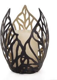 Metal Candle Holder Designs Adeco Decorative Leaf Design Metal Pillar Candle Holder Black Color Home Decor