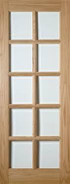 bristol 10 light glazed oak door