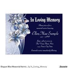 Funeral Invitation Template Elegant Blue Memorial Service Announcements Elegant 6