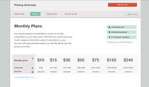 Sticky Menu Pricing Chart From Mailchimp Patterntap