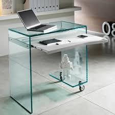 Nervi glass office desk White Work Box Computer Desk23848 Robson Furniture Glass Desks Robson Furniture
