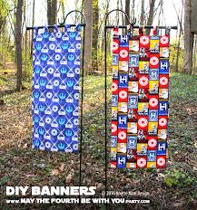 Fabric banners diy Sew How To Make An Entrance Diy Star Wars Fabric Banners May The Diy Outdoor Banner Inspire Banners Custom Pvc Banner Holder For About 15 Sheekgeek Diy Outdoor Banner