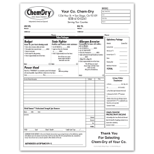 Printed Invoices ChemDry Printing Invoices Work Orders Franchise Print Shop 1