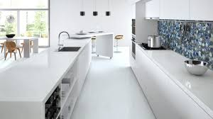 White Stone Kitchen Backsplash What Material Should I Use For My Kitchen And Toilet Counter Tops
