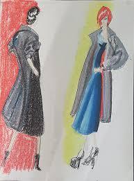 Fashion Sketching Model Drawings On Pantone Canvas Gallery