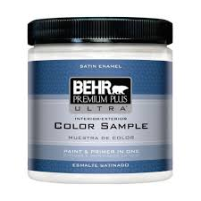 Behr Premium Plus Ultra 8 Oz 220 Ultra Pure White Satin Enamel