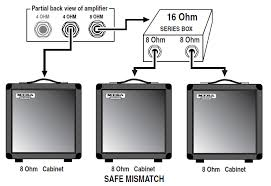 what is the best way to connect speakers or cabinets mesa boogie it is also fine to use a series or parallel box to achieve a safe mismatch