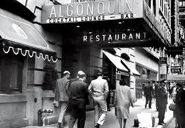 the algonquin hotel site of the fabled round table in the 20s in 1965