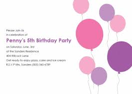 birthday invitations samples balloon birthday party invitation free printable kids birthday