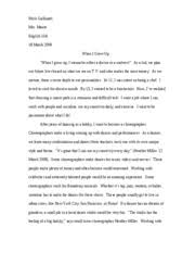 college essay importantttttt senior year was the time  4 pages career essay