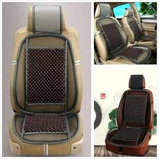 wooden bead car seat cushion coffee natural wood beads car off road seat cushion massage relaxing
