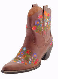 Reyme Boots Size Chart Details About Leather Floral Stitch Boot Size 9 Cowboy Boot Leather Boots Floral Pattern