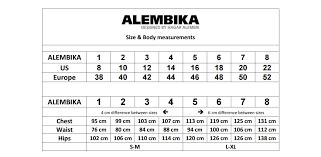 Alembika Size Chart Alembika Savannah Dress