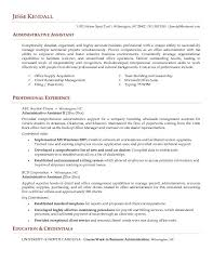 assistant administrative example resume chronological