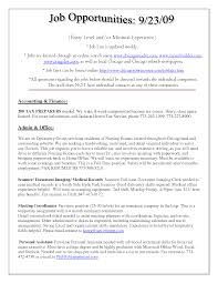 Entry Level Nursing Assistant Resume Sample Free Download Vinodomia