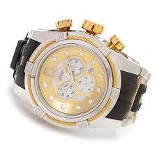 invicta bolt jason taylor chronograph gold and silver dial invicta bolt jason taylor chronograph gold and silver dial stainless steel black polyurethane mens watch 14953