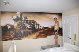 easy DIY wall mural. how to apply wall decals from www.heatherednest.com