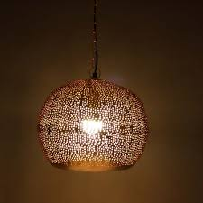 Marokkaanse Hanglamp Dilara Koper ø 35 X 32cm Safaary