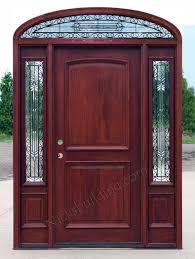 Exterior Door solid exterior door pics : Mahogany Doors with elliptical Transoms 6'8