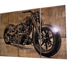 wall art on stained solid birch wood