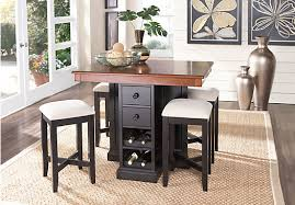 tall dining room sets. Height Dining Room Table The Coventry Lane Black 5 Pc Bar Set Review Home Tall Sets
