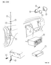 1995 chrysler lebaron radio speaker antenna diagram 00000fqp