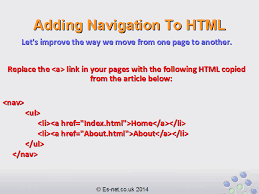 How To Add Navigation To A Simple Html Page