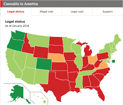 Comments On Daily Chart Marijuana And The Disjointed States