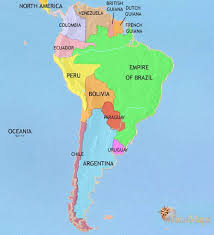 Map Of South America At 1871ad Timemaps