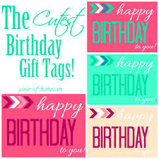 Birthday Tags Template Birthday Gift Tag Template The Cutest Birthday Gift Tags Birthday Tale