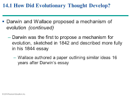 principles of evolution ppt 14 1 how did evolutionary thought develop