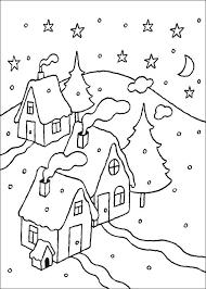 Kids N Fun Kleurplaat Kerstmis Meer Winter