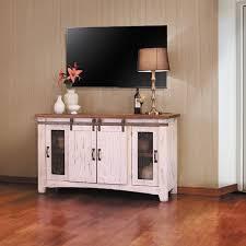 barn door tv stands unbelievable pueblo white tv stand home ideas 5