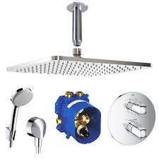 Details Zu Hans Grohe Ideal Standard Unterputz Thermostat Duschsystem Mit 300 Mm Kopfbrause
