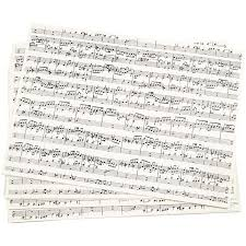 Music Paper Print Kraft Paper With Print A4 210x297 Mm 100 G Music Notes 10sheets