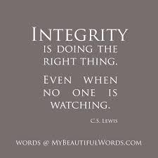 integrity vs popularity