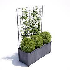 new trellis planter troughs garden