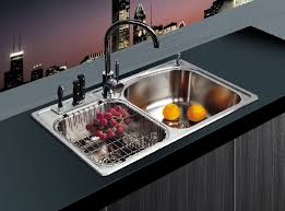 Stainless Steel Double Bowl Kitchen Sink U2014 SMITH Design  The Way Kitchen Double Sink Clogged