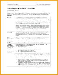 Project Requirements Document Template Process Management Sample ...