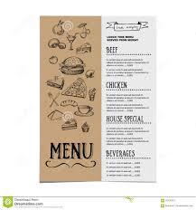 Cafe Menu Template Restaurant Cafe Menu Template Design Food Flyer Stock Vector 2