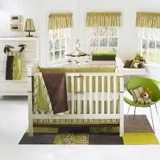 colorful baby boy nursery interior design refreshing green banana fish moda baby crib bedding set