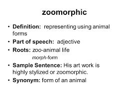 elucidate part of speech verb ppt video online 35 zoomorphic