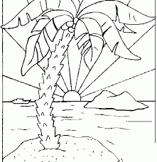 Small Picture Color Cut Out Palm Trees Coloring Coloring Pages
