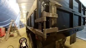dump truck barn door tailgate