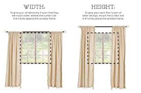 How To Hang Curtains The Right Way .