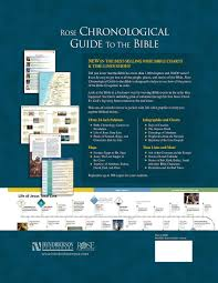 Rose Chronological Guide To The Bible Rose Bible Charts