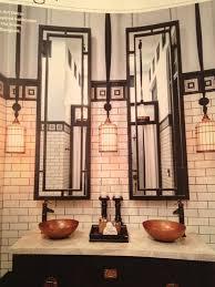 Modern Art Deco Bathrooms Art Deco Bathroom In Basement Off Office Lots Of Reflective
